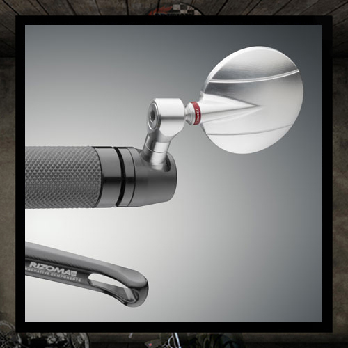 SPY-R 60/80 RIZOMA Silver Aluminum Bar End Mirror