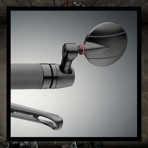 "SPY-R ""60/80"" RIZOMA Black Aluminum Bar End Mirror"