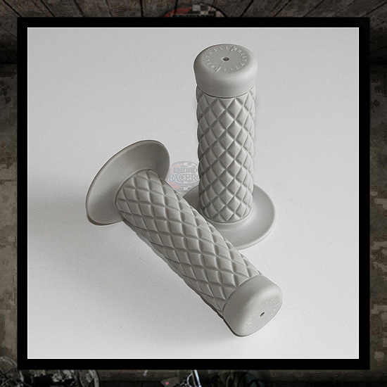 Gray Thruster handlebar grips 25mm