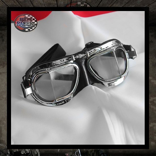 Black chrome Halcyon goggles