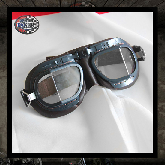 Brown Blue Halcyon Motorcycle goggles