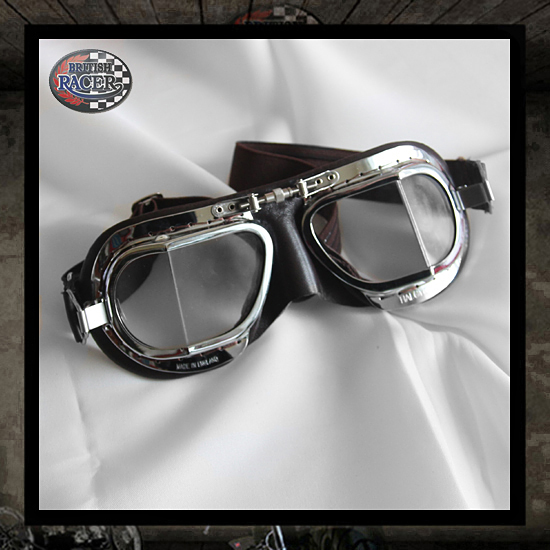Brown chrome Halcyon goggles