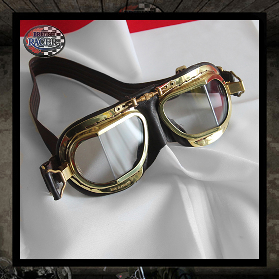 Brown gold Halcyon goggles