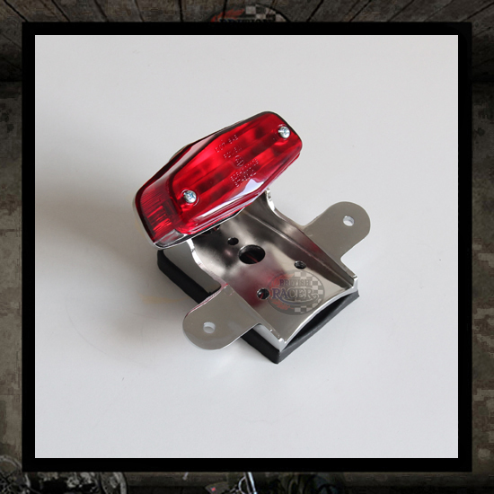 Chromed Lucas Trail taillight E-marked