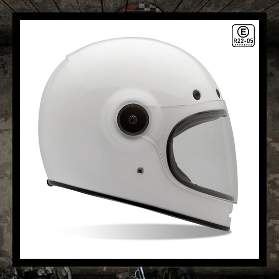BELL Bullitt Solid White Full Face Helmet