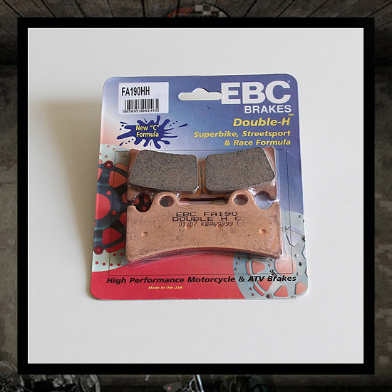 EBC sintered front brake pads for Pretech Brake 6 P.