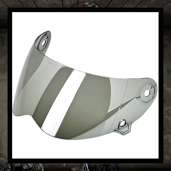 Lane Splitter shield - chrome mirror