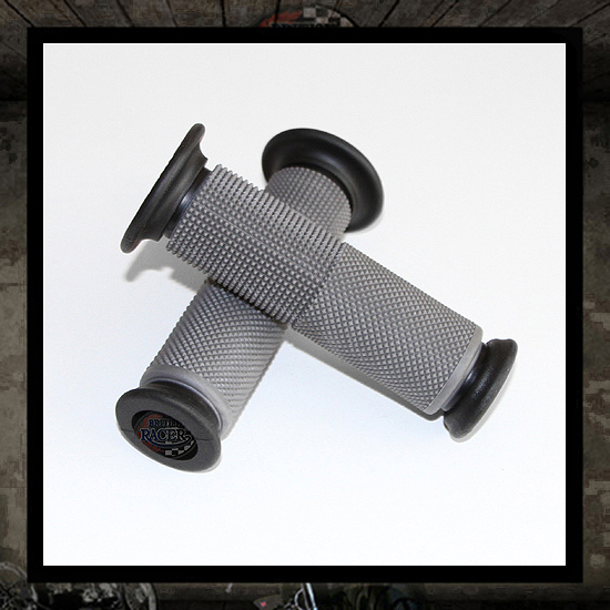 Gray GEL handlebar grips 22mm open end