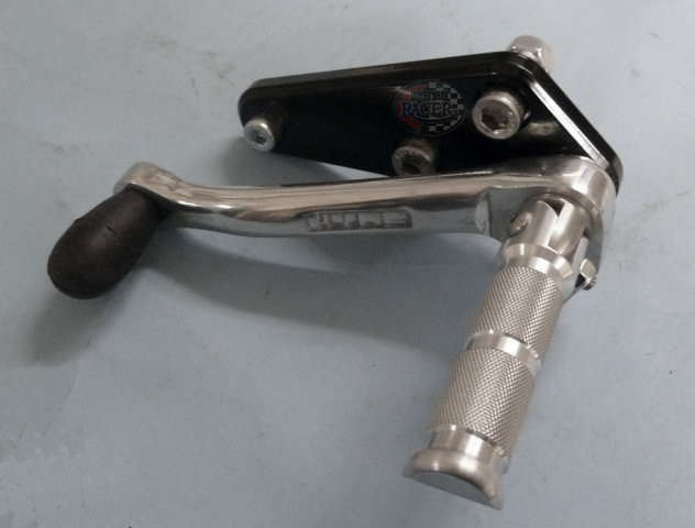 Triumph Bonneville footrest kit Alu (air cooled)