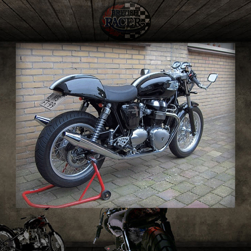 Toga peashooter exhausts Thruxton (air cooled)