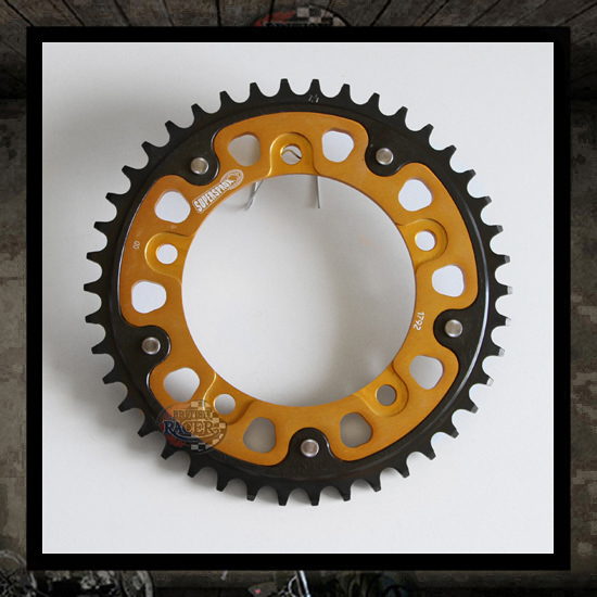 Black/Gold Supersprox Stealth rear sprocket