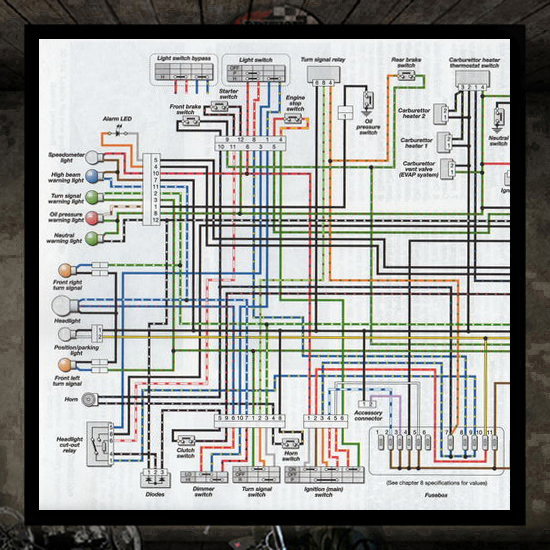 Electrical System Diagram Triumph  Air Cooled  Electrical