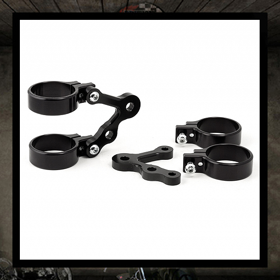 Headlight brackets with indicators hole LSL short Ø 41 mm