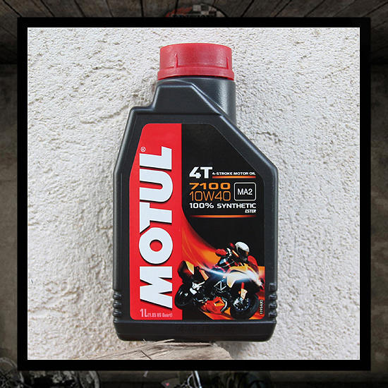 "MOTUL oil 7100 4T 10W40 MA2 ""ESTER Technology"""