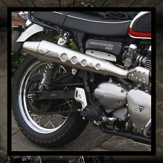 "Zard 2 into 1 ""High"" Bonneville-Thruxton-Scrambler"