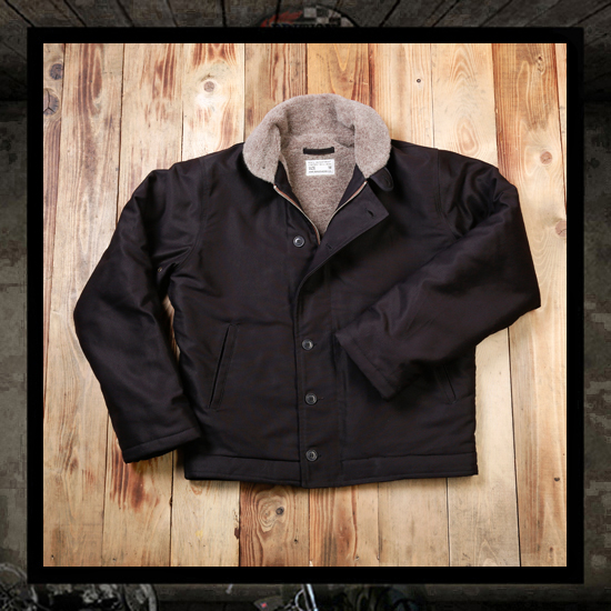 Pike Brothers 1944 N-1 Deck Jacket - Faded Black