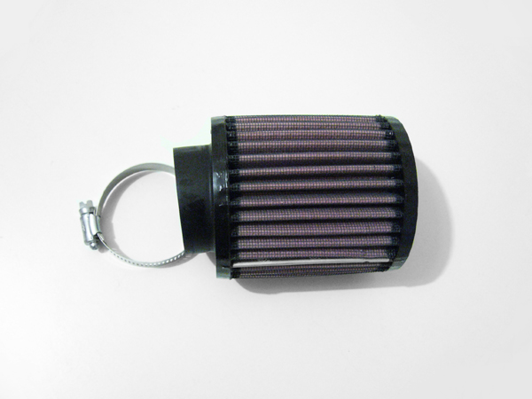 round straight K&N air filter - Click Image to Close