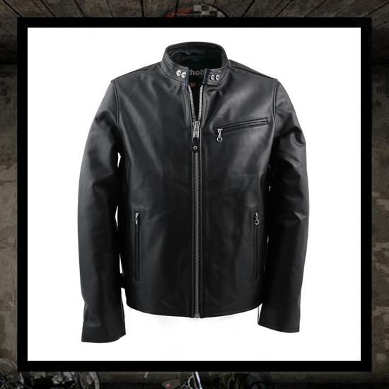 Schott N.Y.C. Café Racer Leather Motorcycle jacket