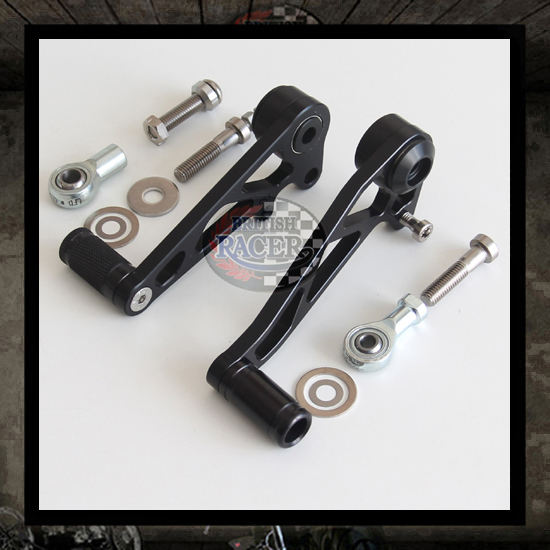 Black Triumph Thruxton pedals kit LSL