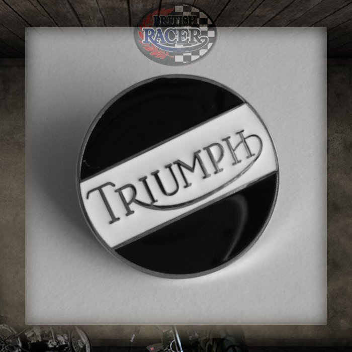 Pin badge Triumph Black & White