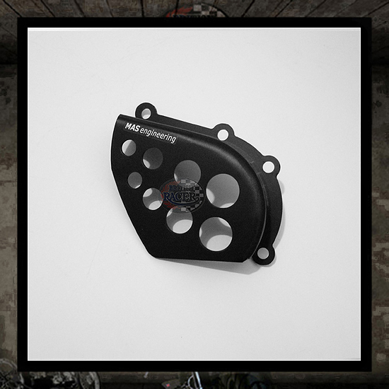 black aluminum sprocket cover holes MAS engineering