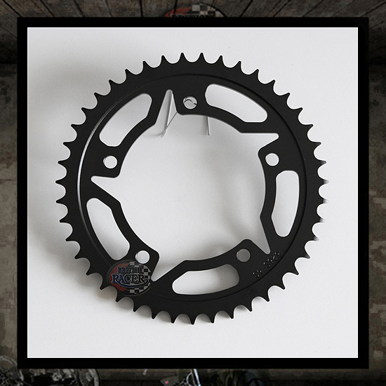 Black carbon/steel rear sprocket