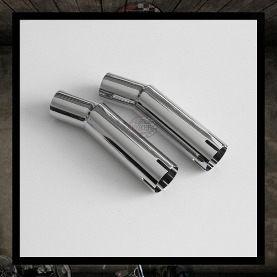 Pair chrome connectors Exhaust Triumph Classics