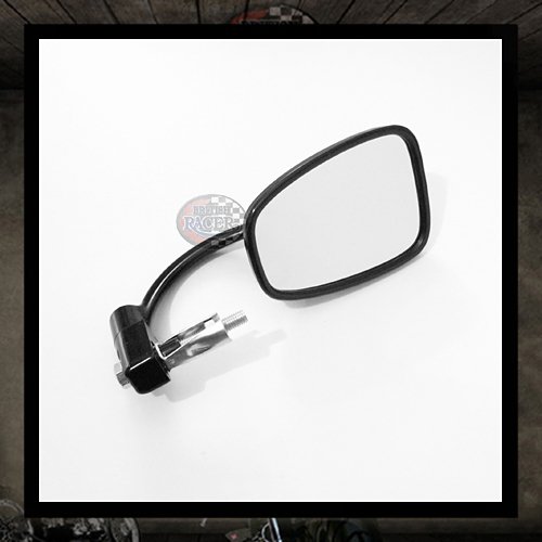 Classic Black rectangular Bar End Mirror