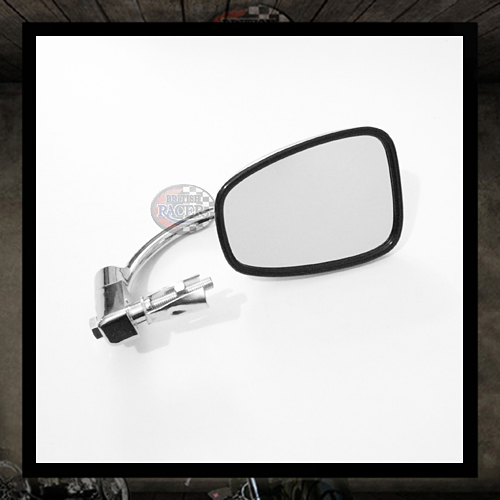 classic chrome rectangular bar end mirror