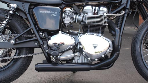 "Zard exhaust 2 into 1 ""Cross"" Bonneville-Thruxton-Scrambler"