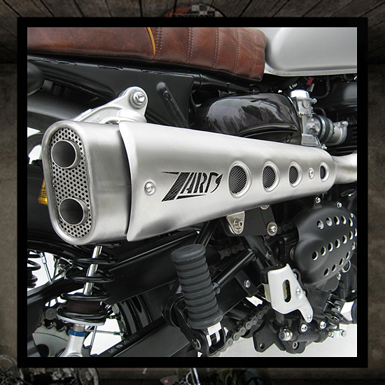 "Zard exhaust 2 into 1 ""Short"" Bonneville-Thruxton-Scrambler"