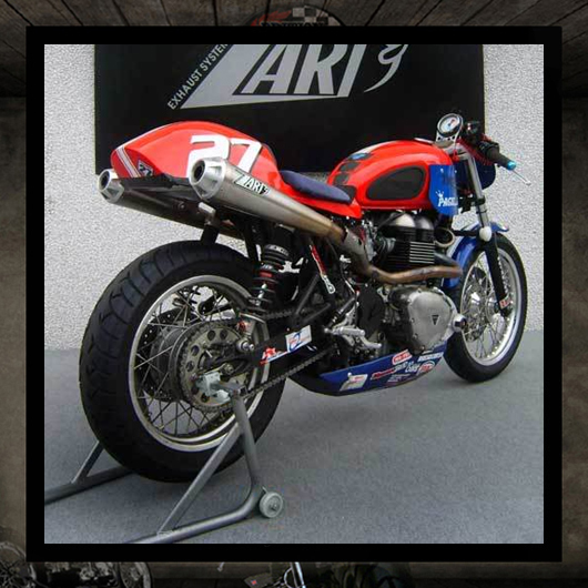 "Zard exhaust ""Thruxton Trophy"""