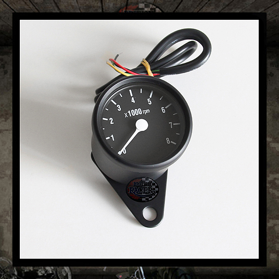 mini tachometer black/black