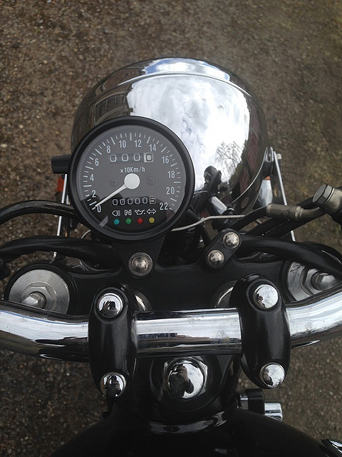 mini speedometer black/black