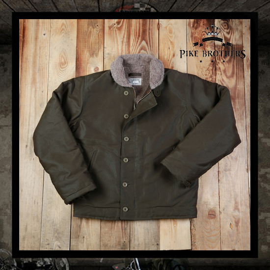 Pike Brothers 1944 N-1 Deck Jacket - Olive