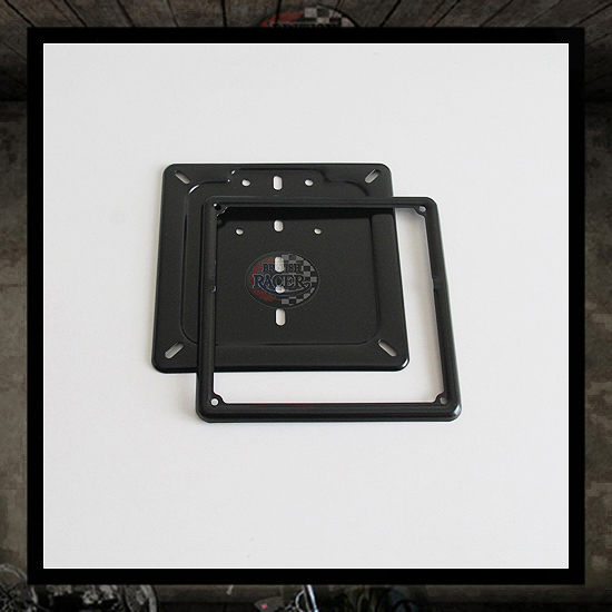 Black metal plate whit frame (Italy)