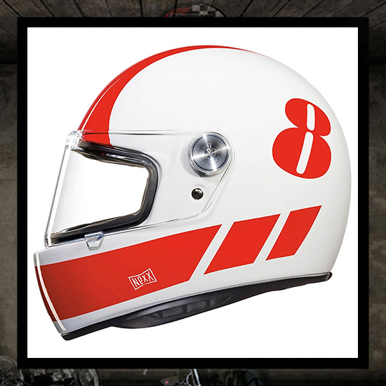 NEXX XG100R helmet - BILLY B white/red