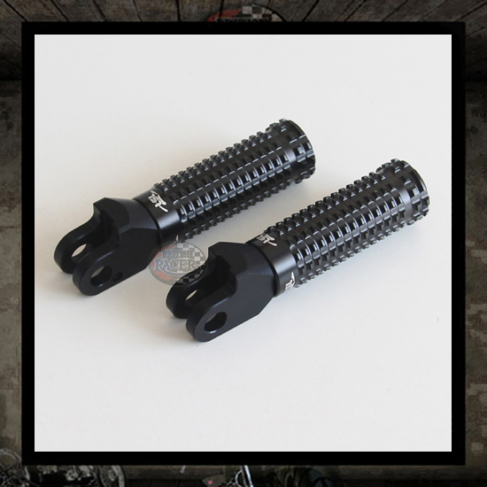 "LSL Extreme black footpegs ""Rear"" Bonneville-Scrambler-Thruxton"