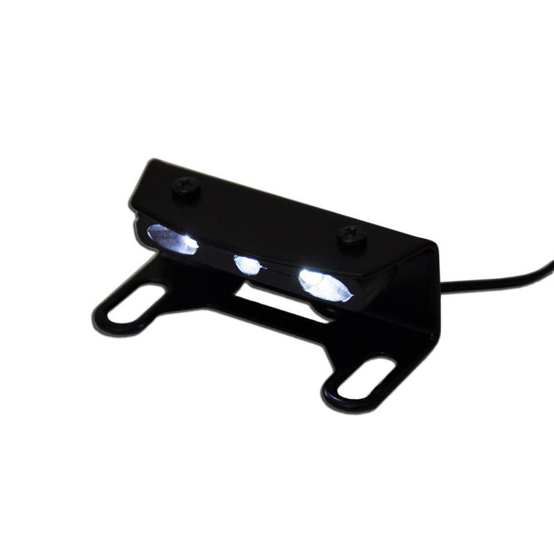 license plate support with LED taillamp (air cooled) •