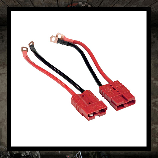 Universal quick-disconnect connectors battery