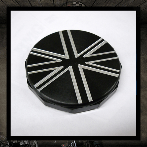 black union Jack gas cap